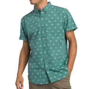 Prana Large Dusty Aloe Slim Fit Broderick Shirt